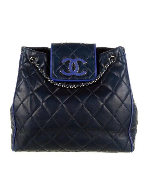 Chanel Hamptons CC Accordion Flap Bag Blue - image 1