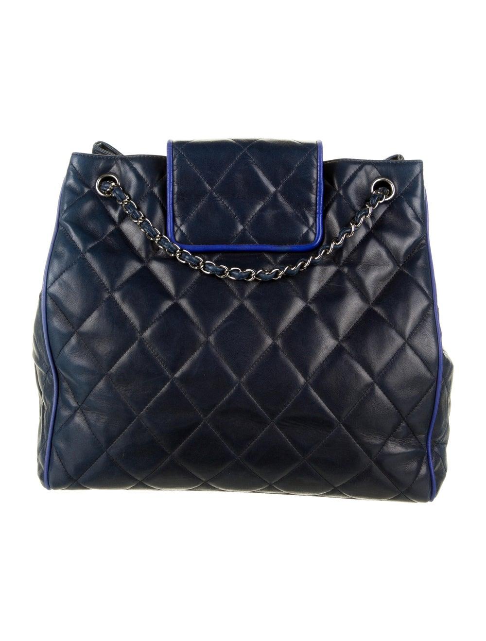 Chanel Hamptons CC Accordion Flap Bag Blue - image 4