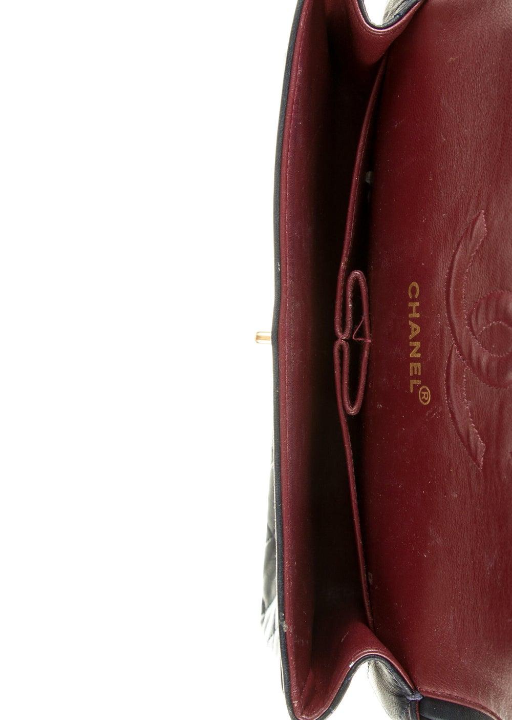 Chanel Vintage Classic Medium Double Flap Bag Blue - image 5