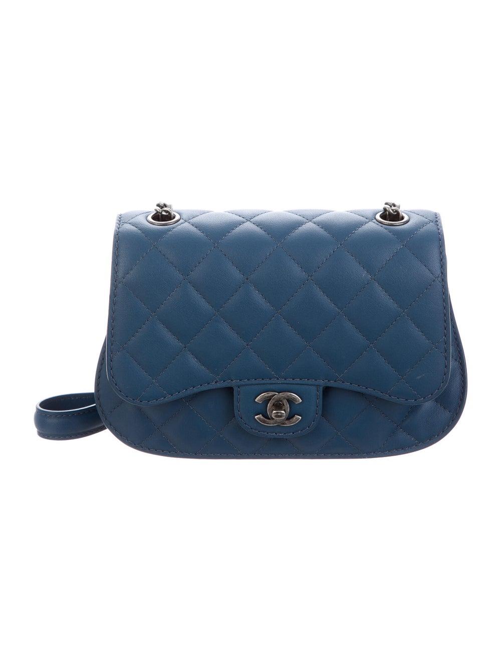 Chanel Flap Messenger Bag Blue - image 1