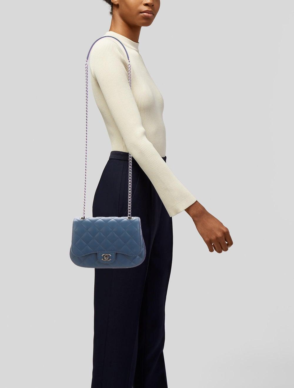 Chanel Flap Messenger Bag Blue - image 2