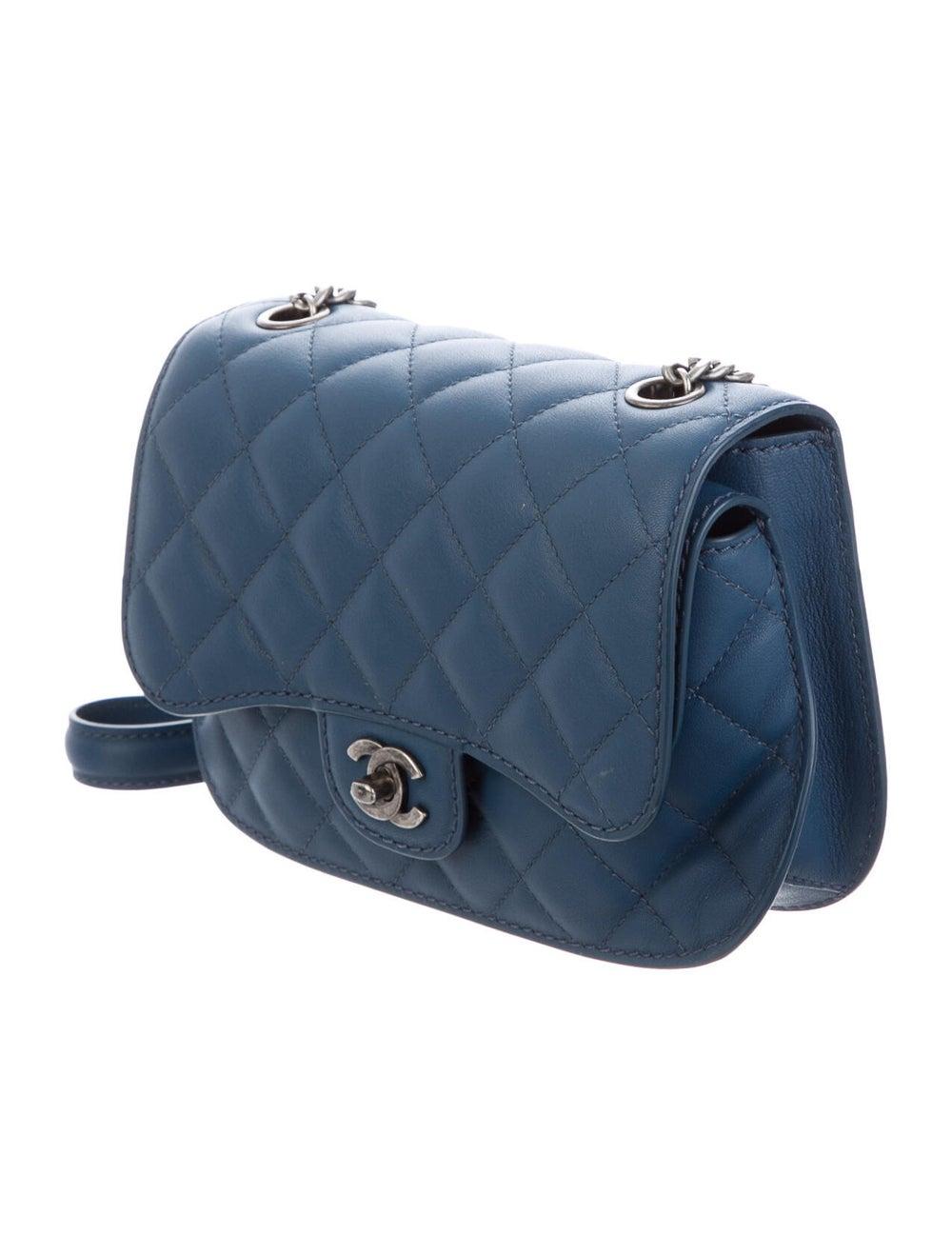 Chanel Flap Messenger Bag Blue - image 3