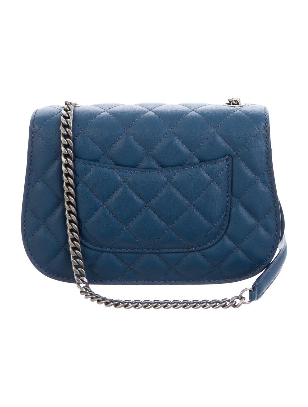 Chanel Flap Messenger Bag Blue - image 4