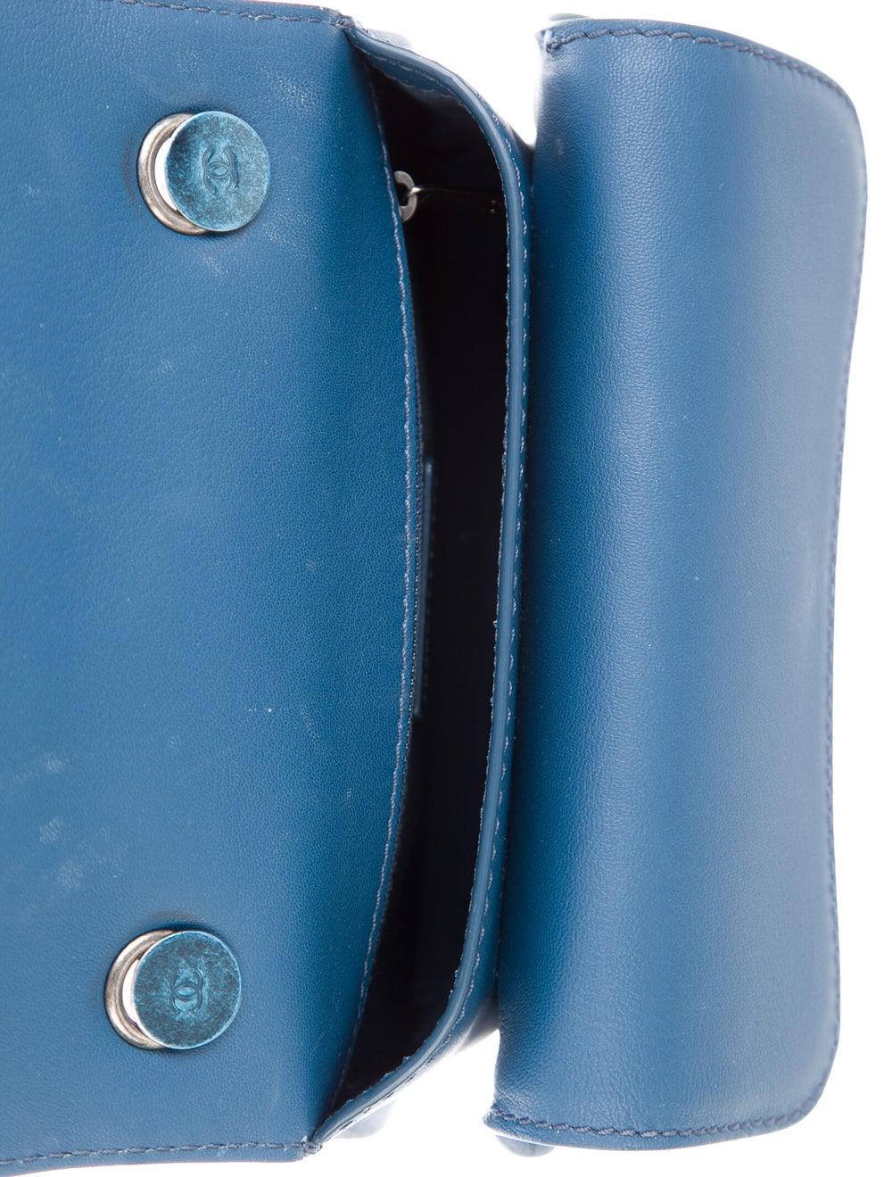 Chanel Flap Messenger Bag Blue - image 5