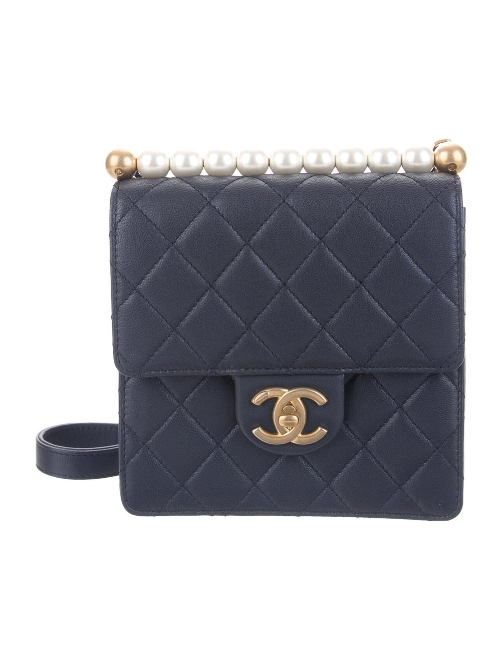 Chanel 2019 Small Chic Pearls Flap Bag Blue - image 1