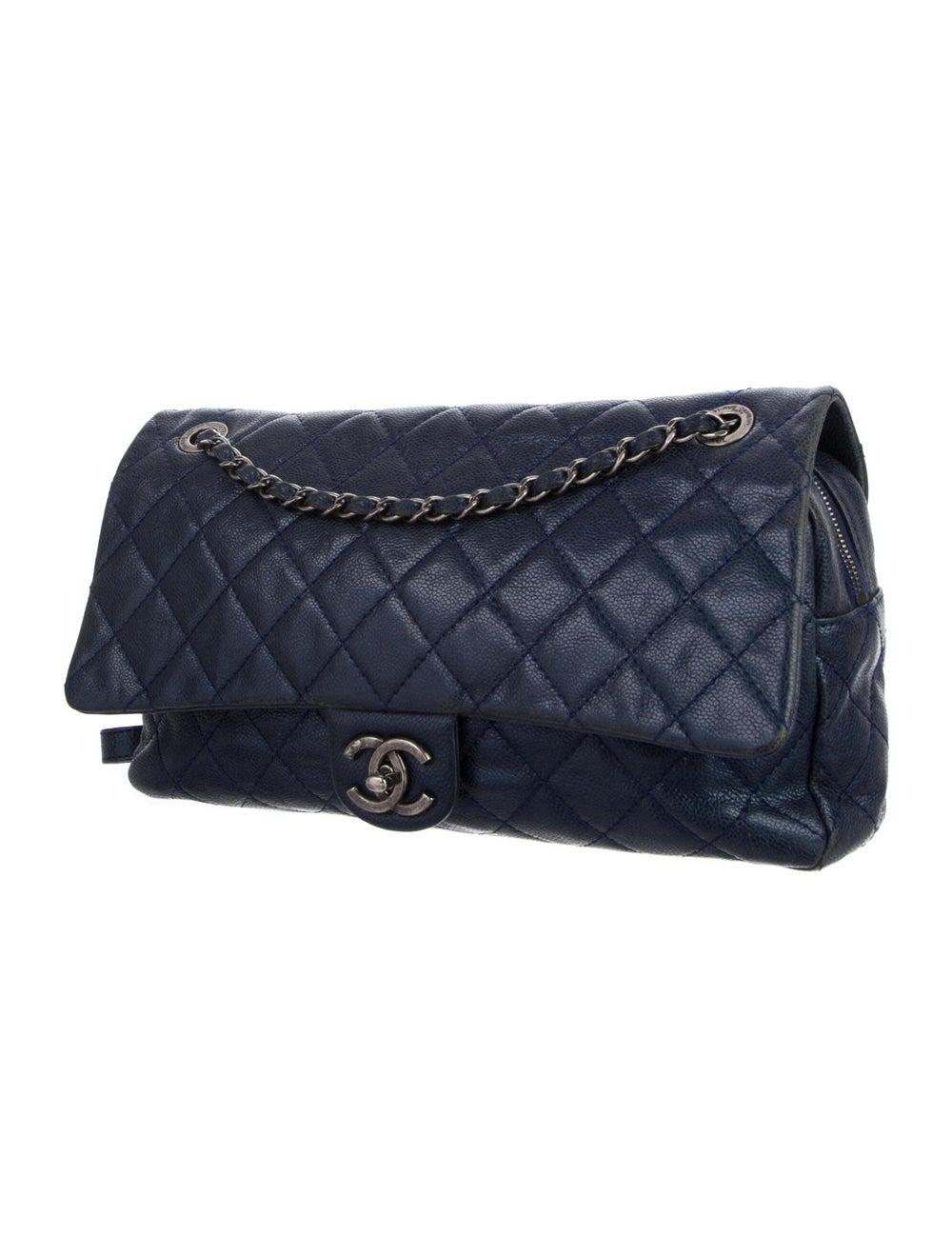 Chanel Jumbo Easy Caviar Flap Bag Blue - image 3
