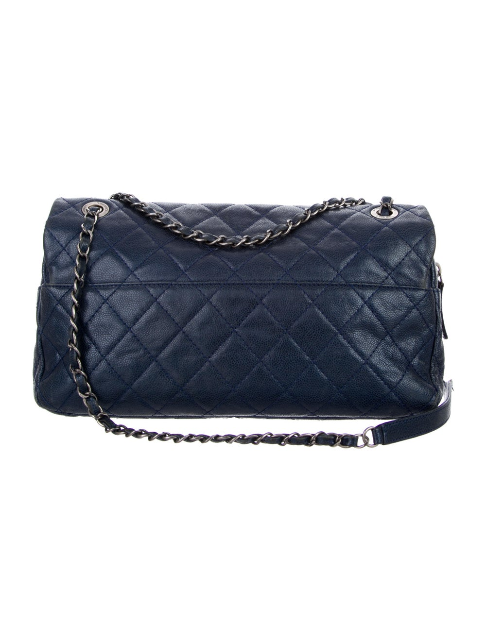 Chanel Jumbo Easy Caviar Flap Bag Blue - image 4