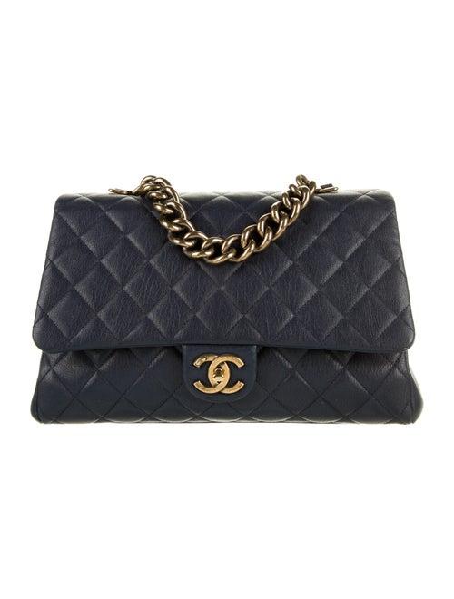 Chanel Paris-Rome Large Trapezio Flap Bag Blue - image 1