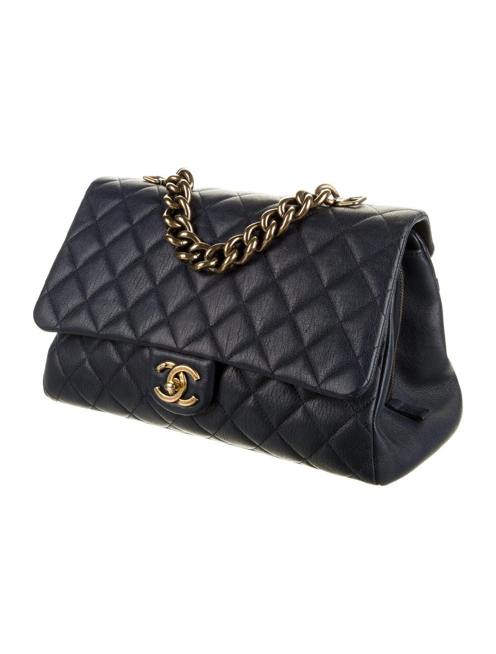 Chanel Paris-Rome Large Trapezio Flap Bag Blue - image 3