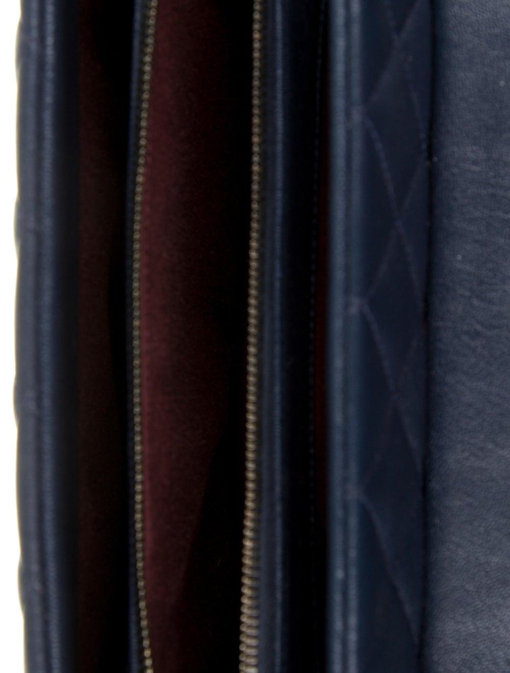Chanel Paris-Rome Large Trapezio Flap Bag Blue - image 5