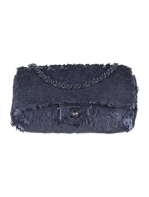 Chanel Sequin Flap Bag Blue - image 1