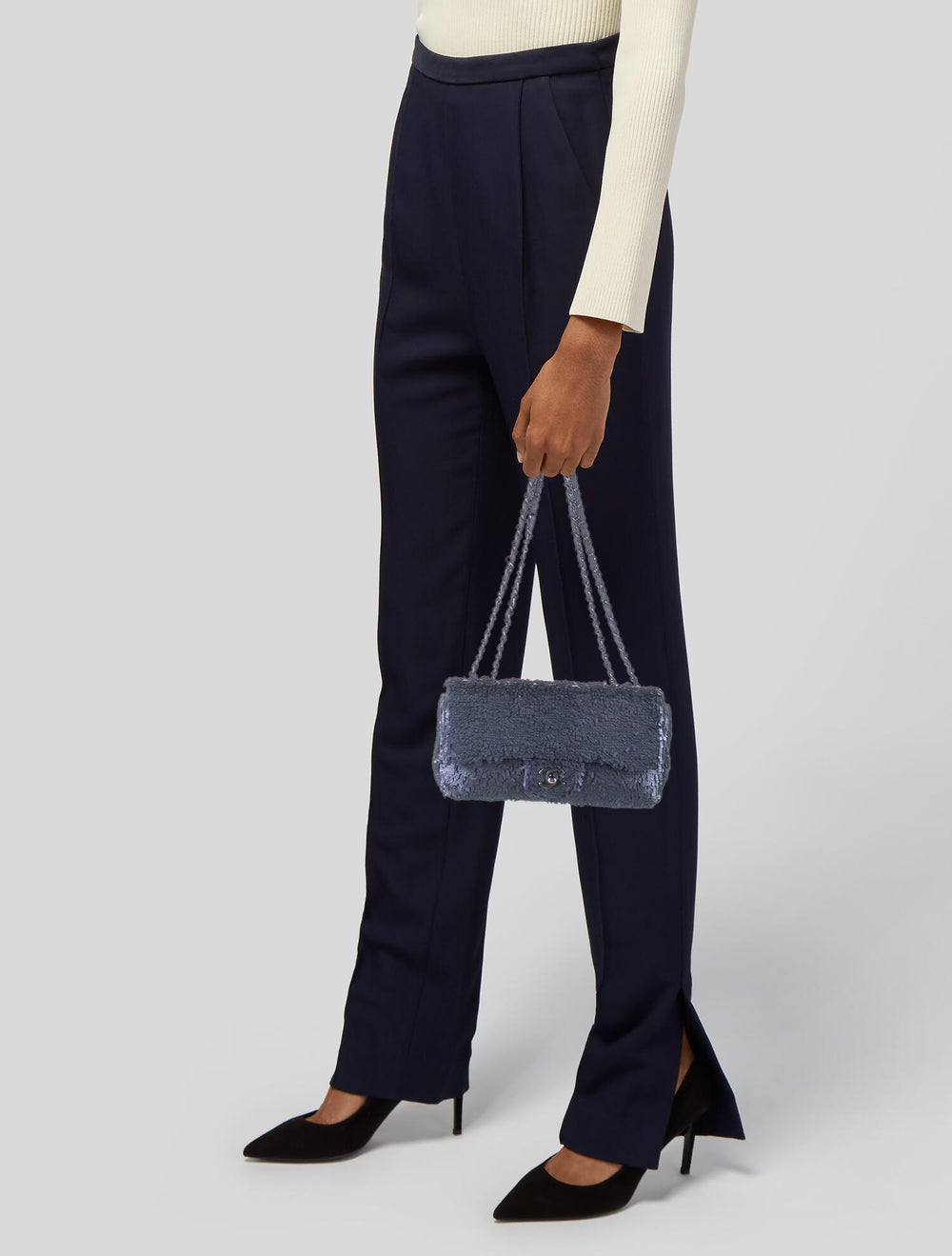 Chanel Sequin Flap Bag Blue - image 2