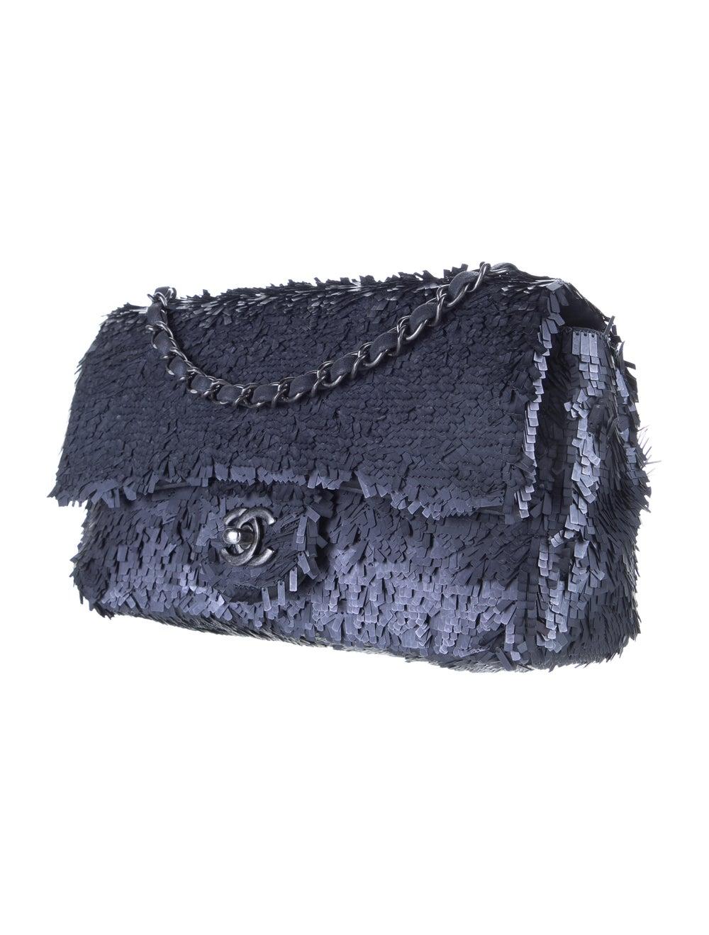 Chanel Sequin Flap Bag Blue - image 3