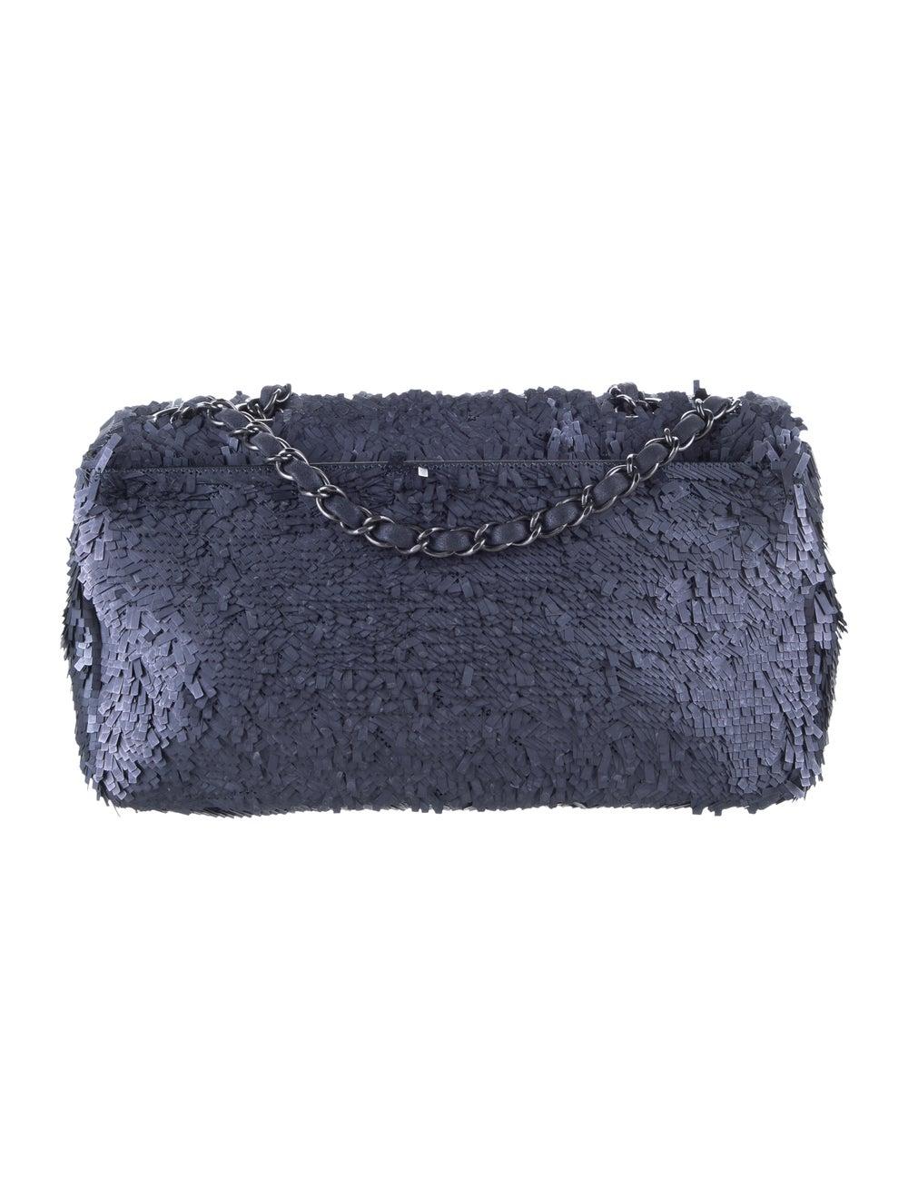Chanel Sequin Flap Bag Blue - image 4