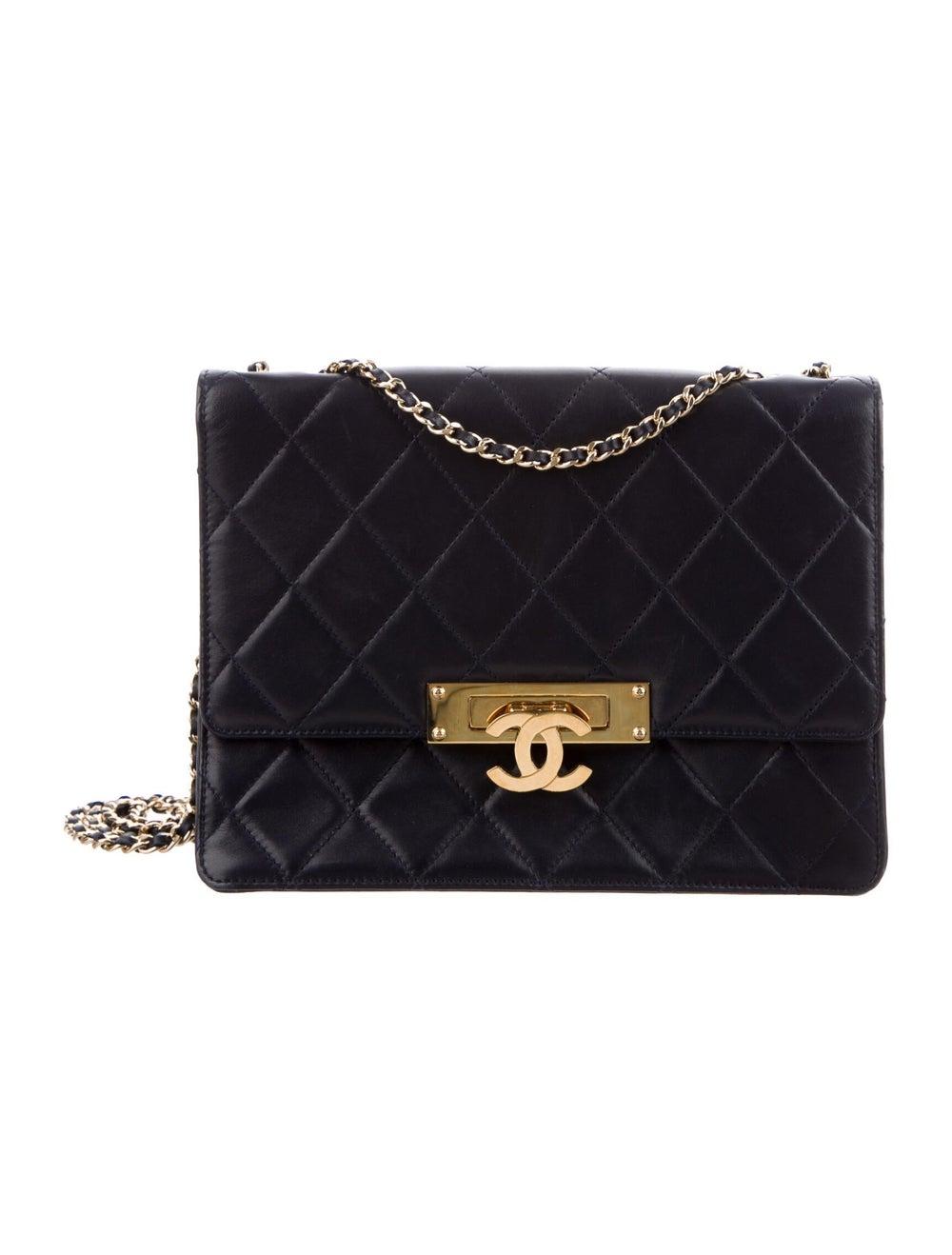 Chanel Golden Class Medium Flap Bag Blue - image 1