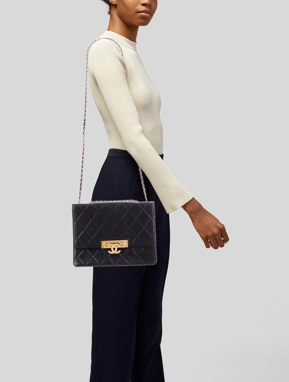 Chanel Golden Class Medium Flap Bag Blue - image 2
