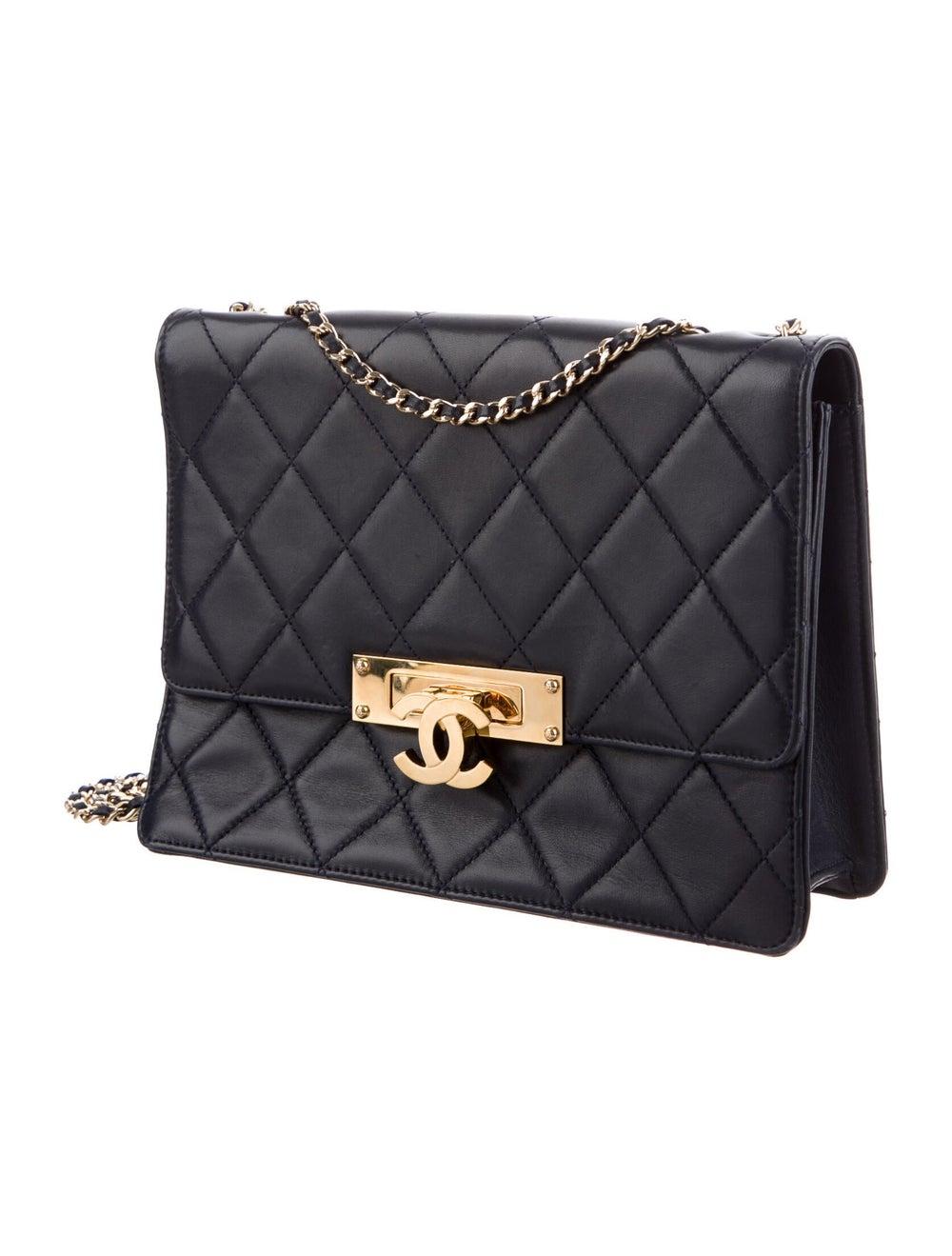 Chanel Golden Class Medium Flap Bag Blue - image 3