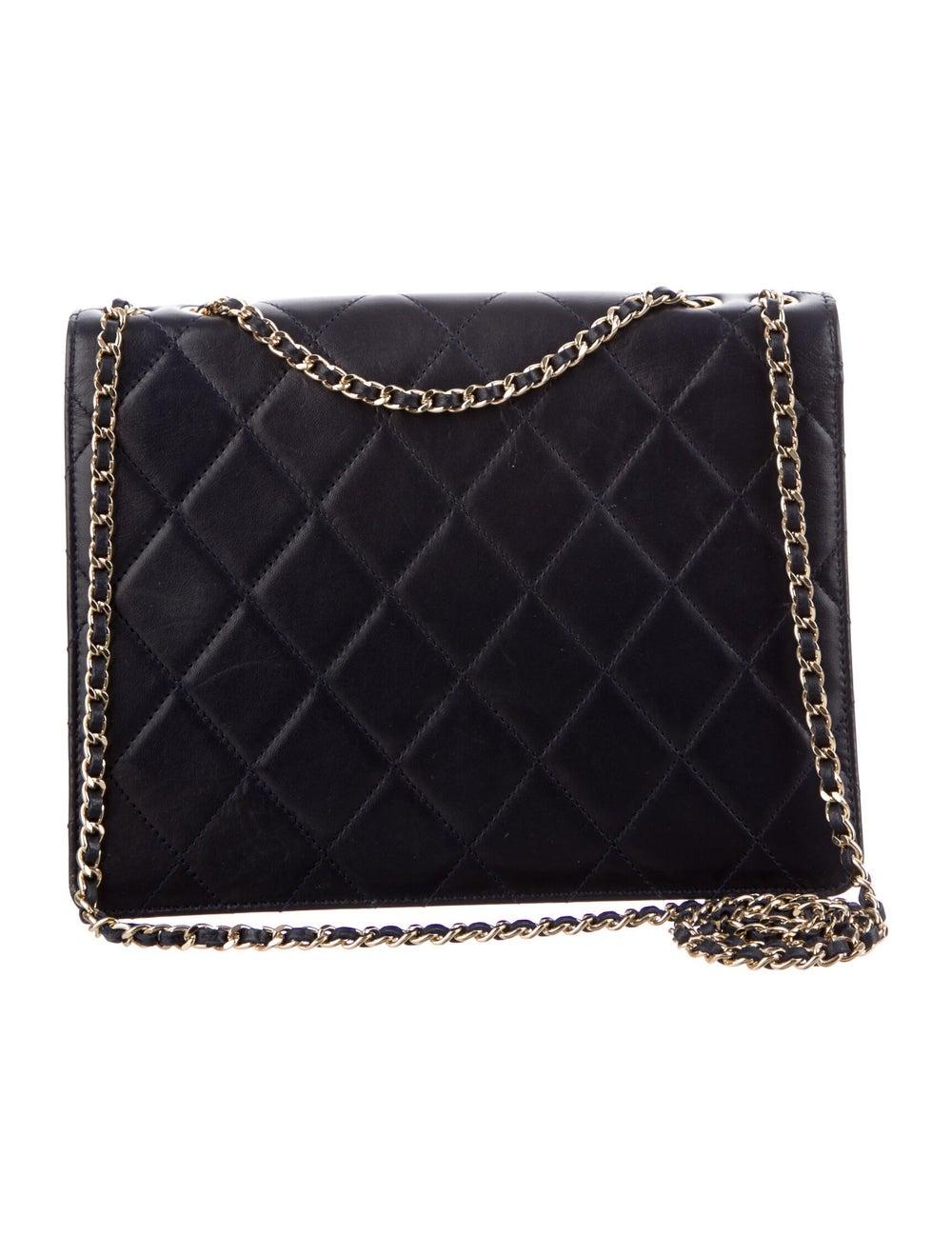 Chanel Golden Class Medium Flap Bag Blue - image 4