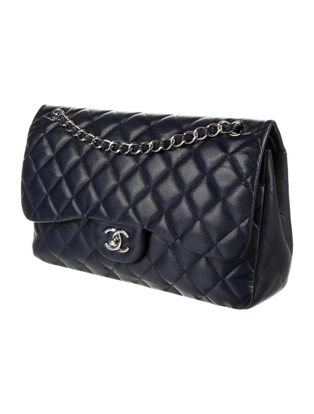 Chanel Classic Jumbo Double Flap Bag Blue - image 3