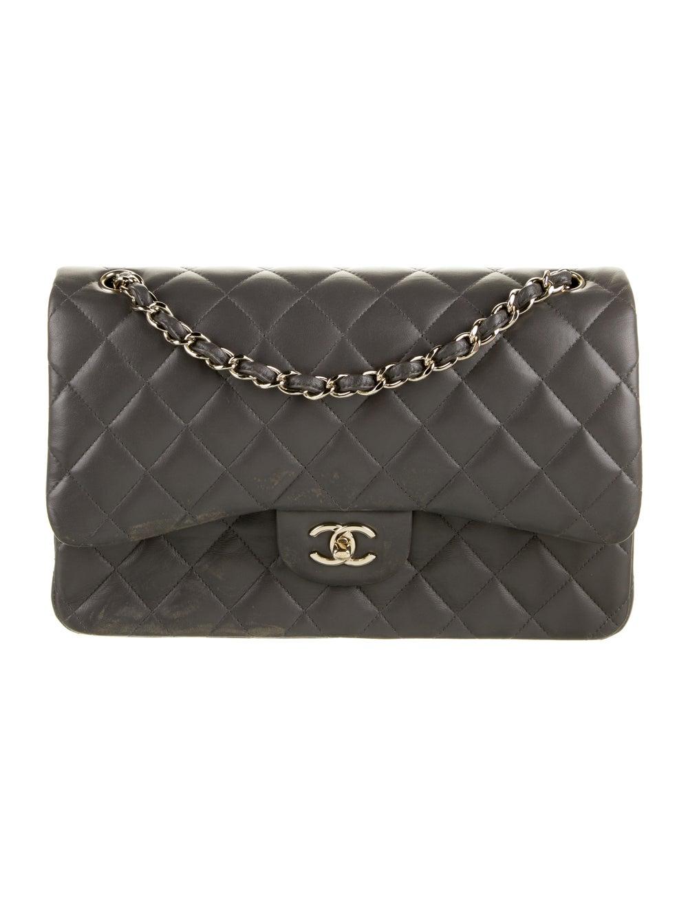 Chanel 2020 Classic Jumbo Double Flap Bag Grey - image 1