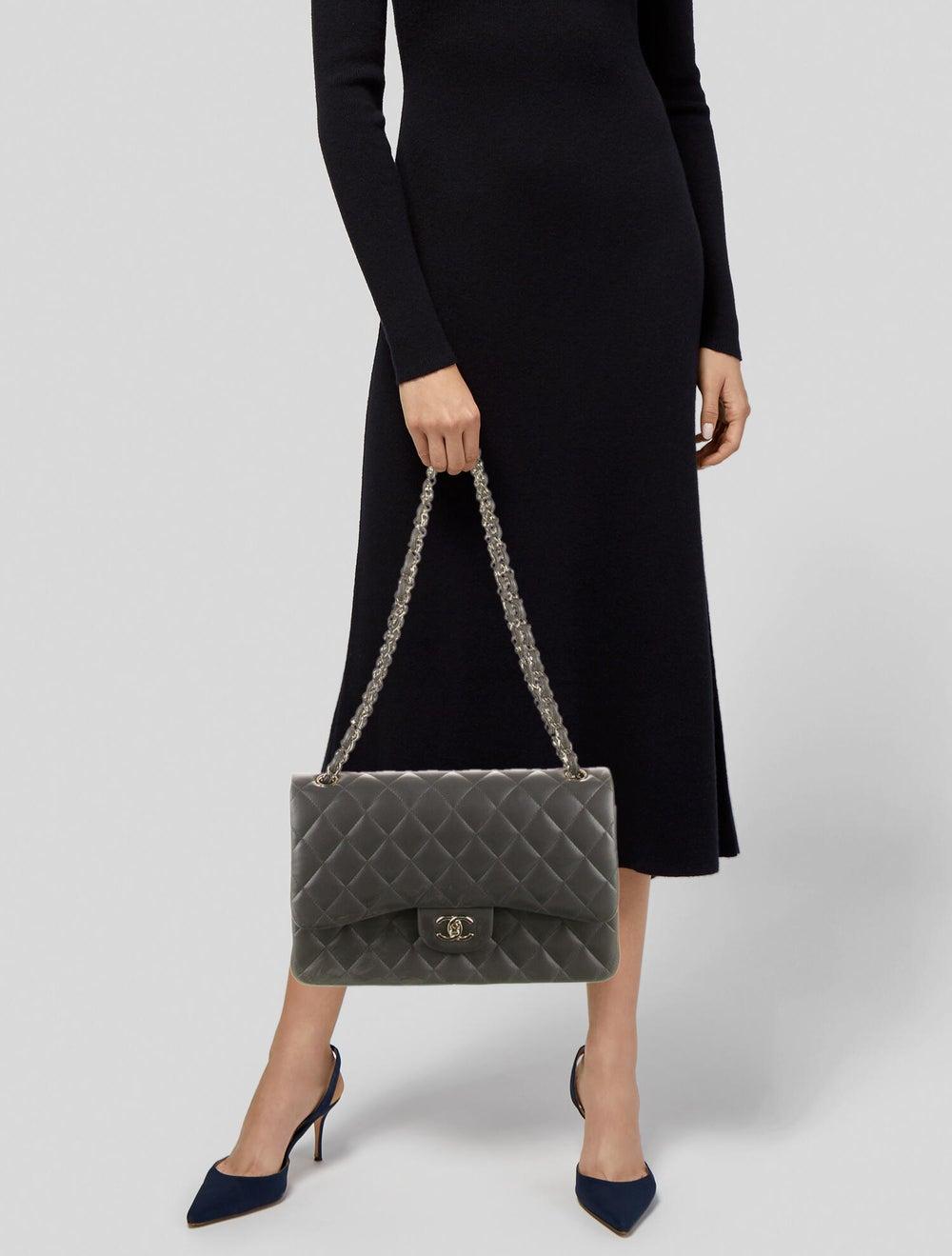Chanel 2020 Classic Jumbo Double Flap Bag Grey - image 2