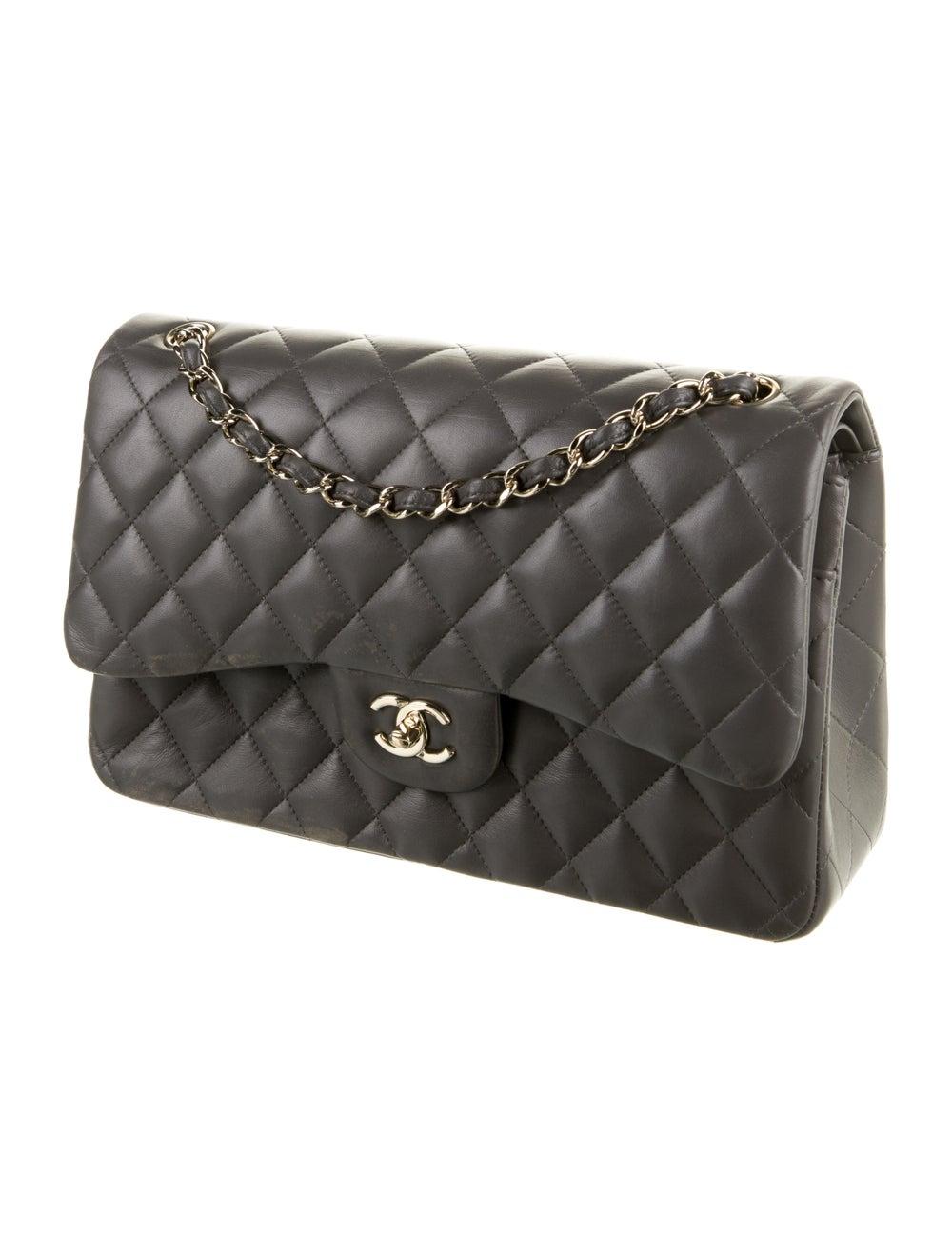 Chanel 2020 Classic Jumbo Double Flap Bag Grey - image 3