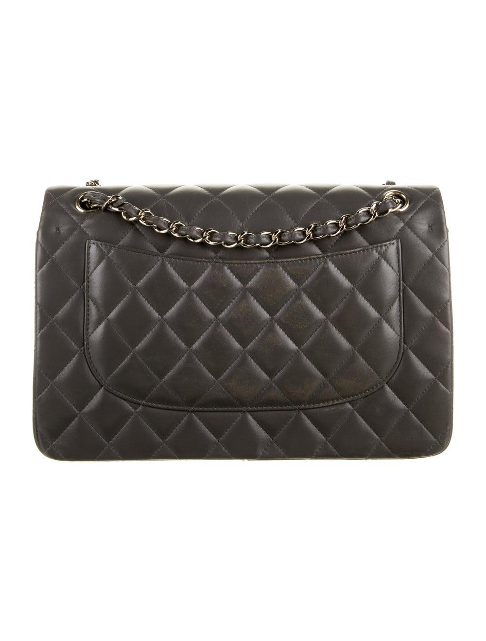 Chanel 2020 Classic Jumbo Double Flap Bag Grey - image 4