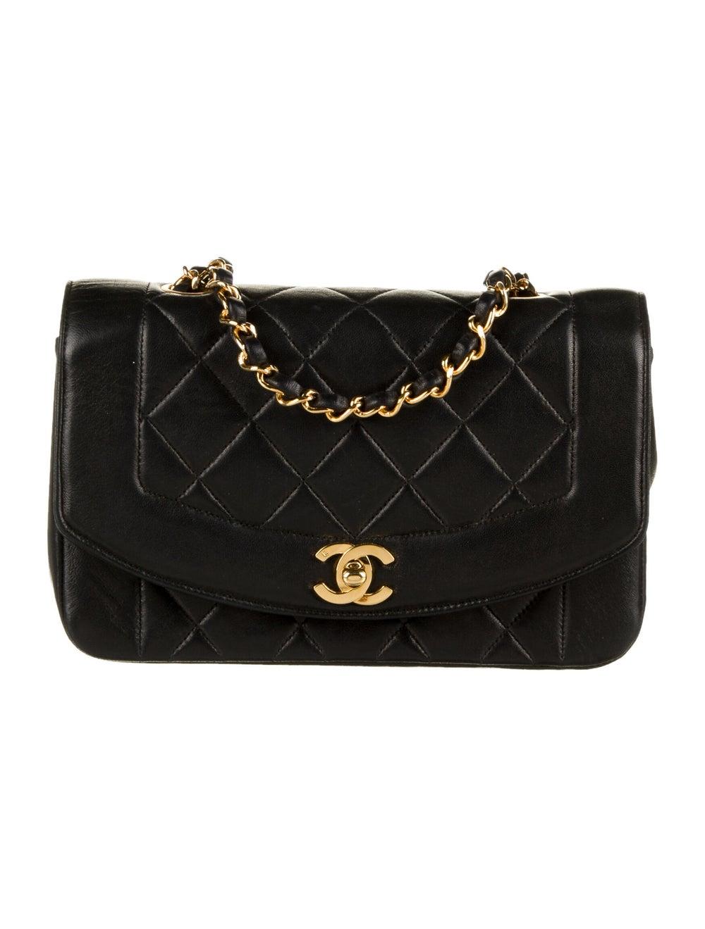 Chanel Vintage Diana Flap Bag Black - image 1