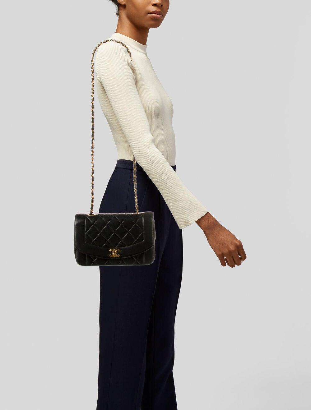 Chanel Vintage Diana Flap Bag Black - image 2