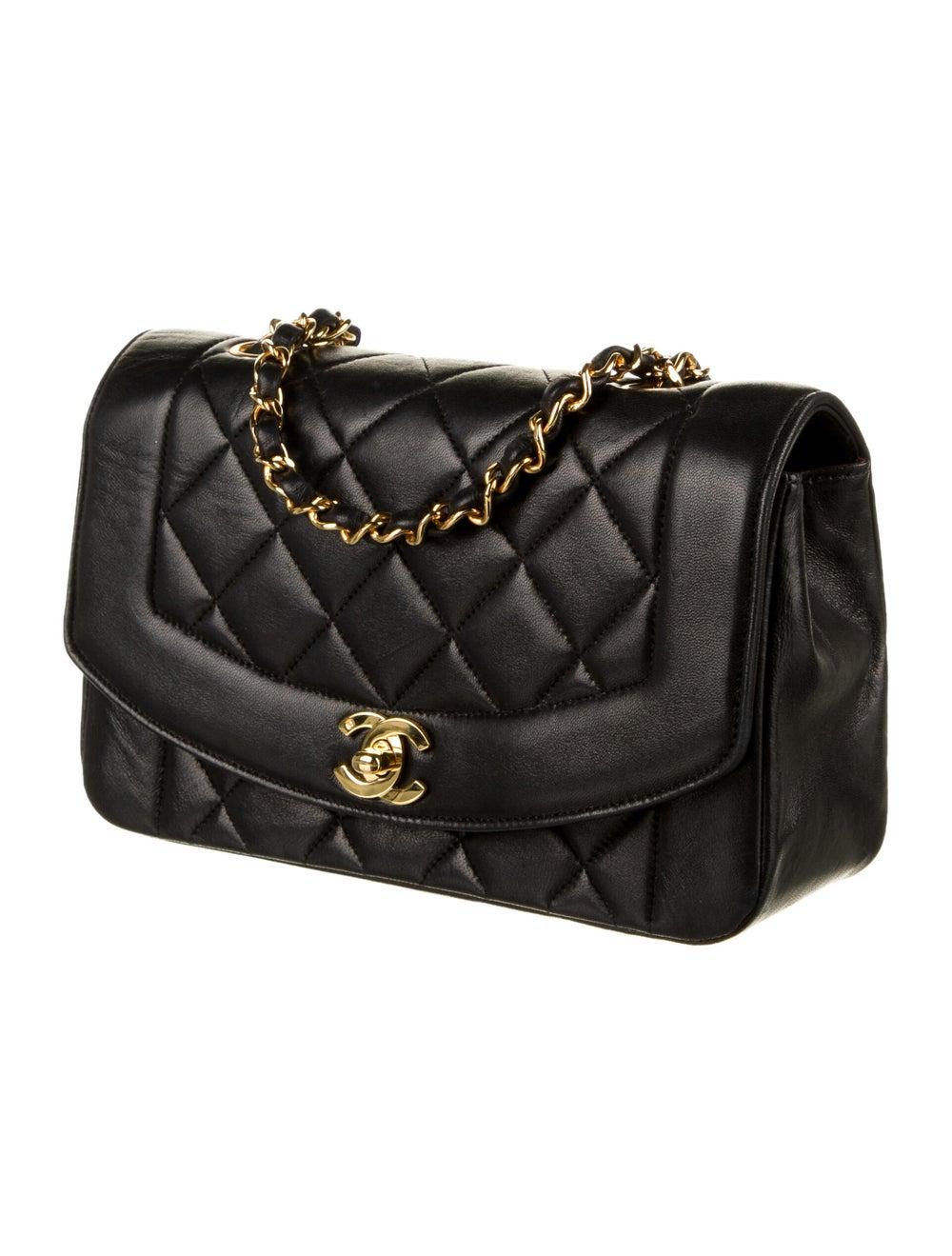 Chanel Vintage Diana Flap Bag Black - image 3