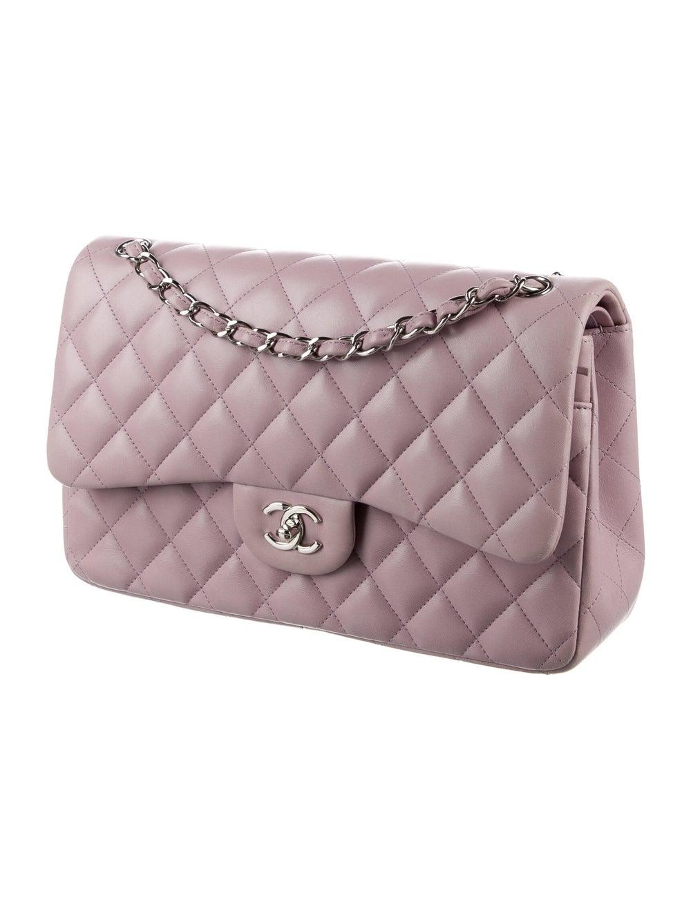 Chanel Classic Jumbo Double Flap Bag Purple - image 3
