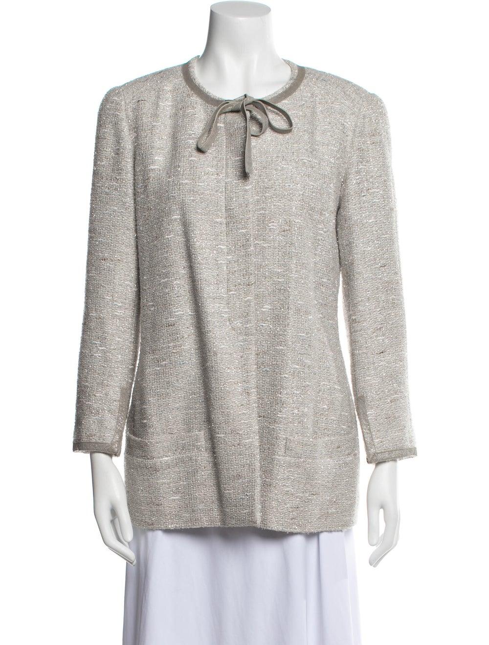 Chanel Vintage 1999 Evening Jacket Grey - image 1