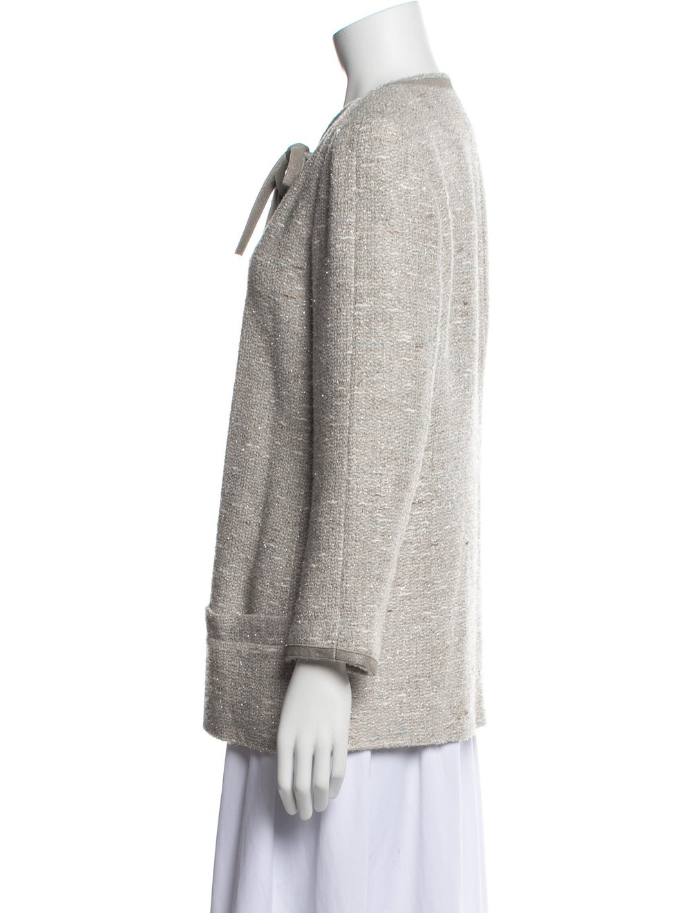 Chanel Vintage 1999 Evening Jacket Grey - image 2