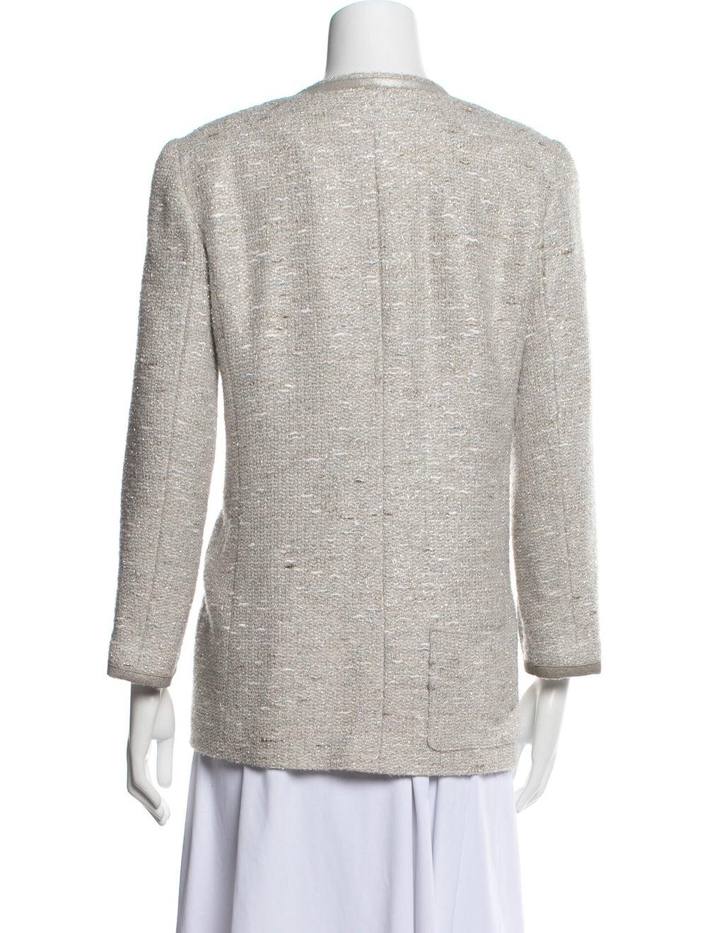 Chanel Vintage 1999 Evening Jacket Grey - image 3