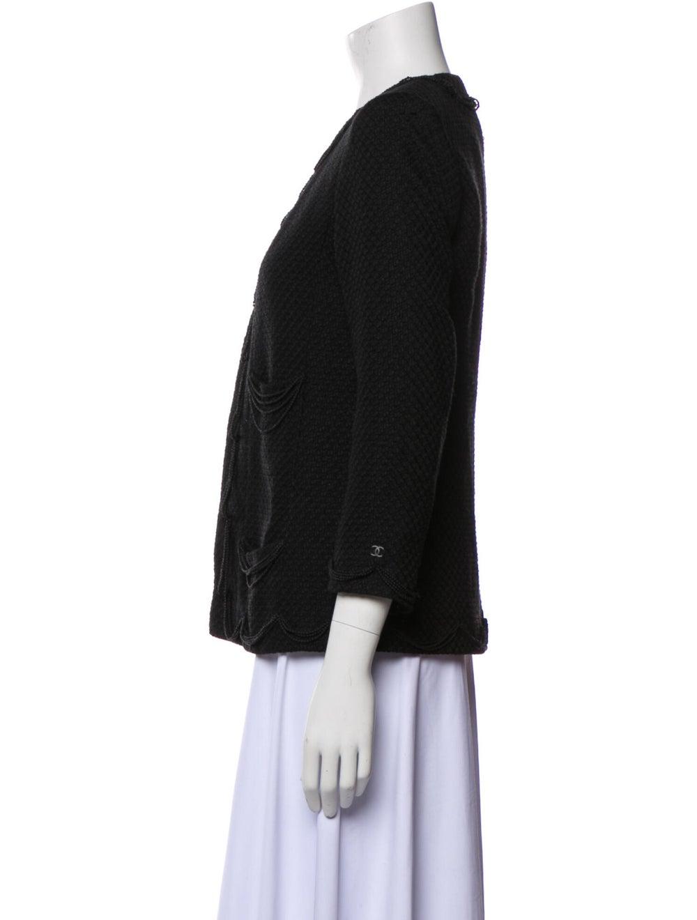 Chanel Vintage 2003 Evening Jacket Black - image 2