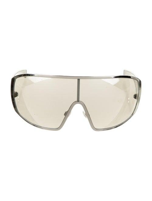 Chanel Runway Shield Sunglasses Silver - image 1