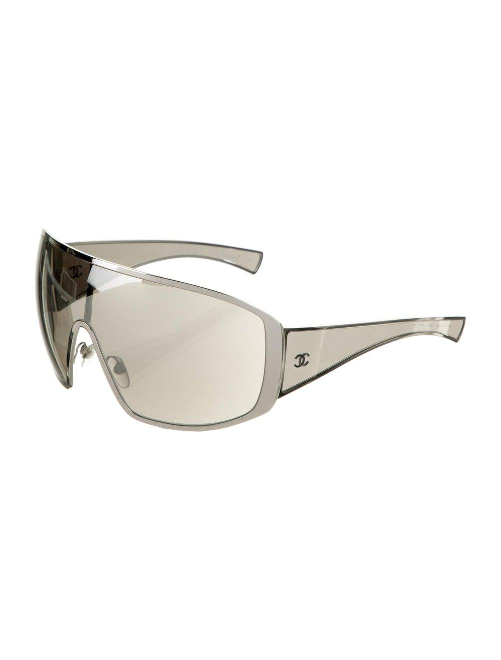 Chanel Runway Shield Sunglasses Silver - image 2