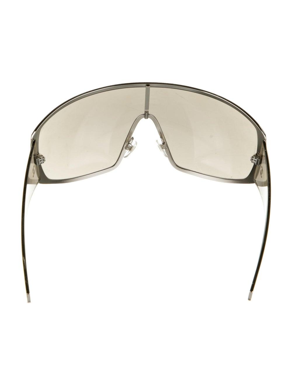 Chanel Runway Shield Sunglasses Silver - image 3