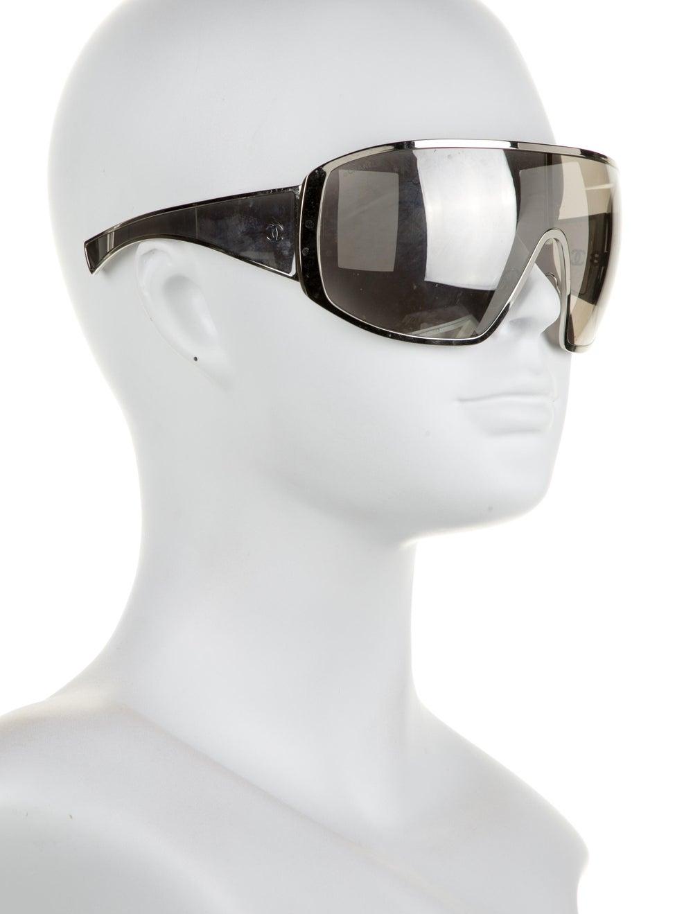 Chanel Runway Shield Sunglasses Silver - image 4