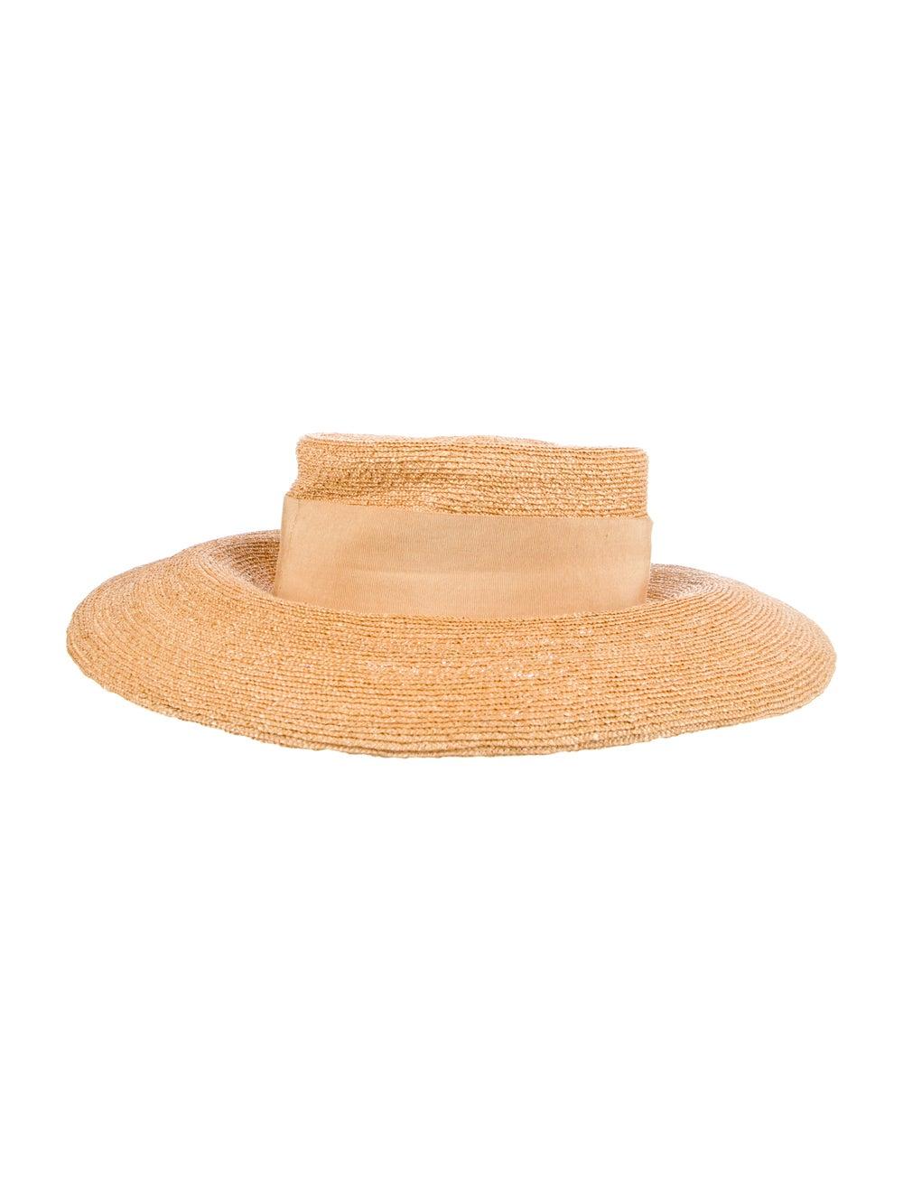Chanel Straw Wide Brim Hat Tan - image 2