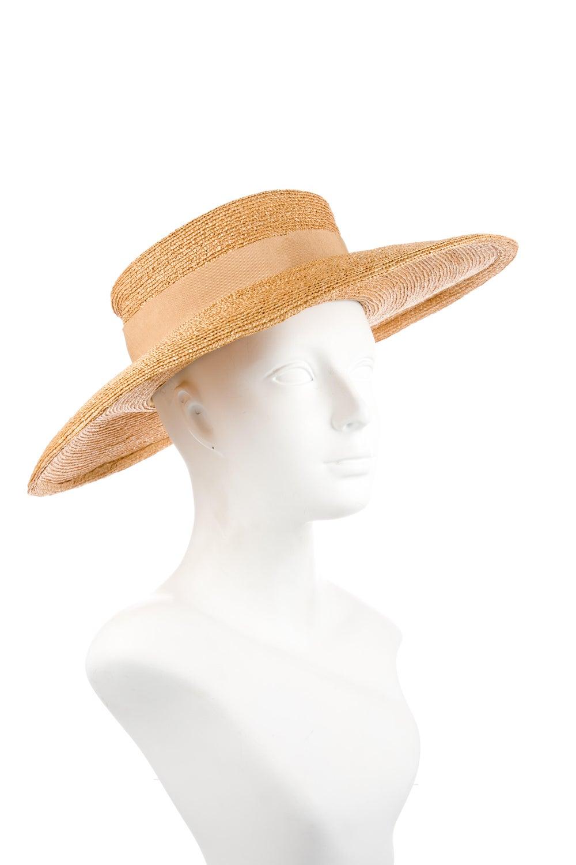 Chanel Straw Wide Brim Hat Tan - image 3