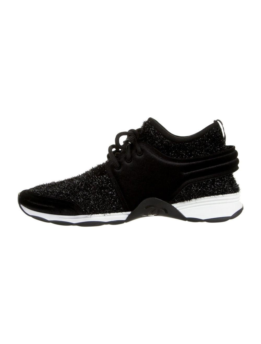 Chanel Tinsel Sock Sneakers Sneakers Black - image 1