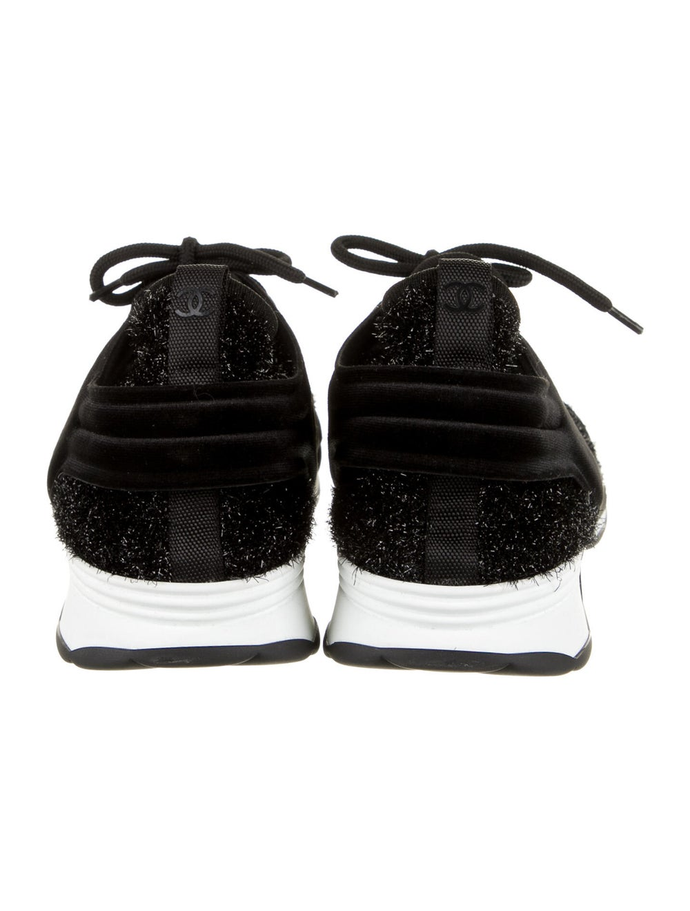Chanel Tinsel Sock Sneakers Sneakers Black - image 4