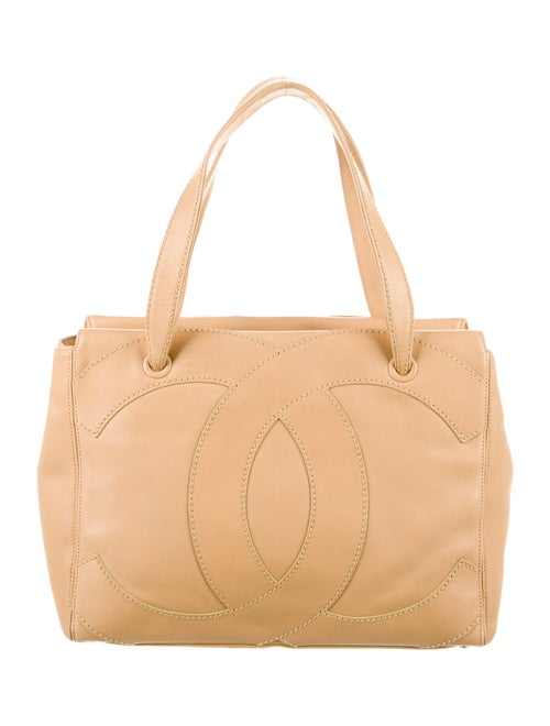 Chanel Vintage CC Leather Tote Gold