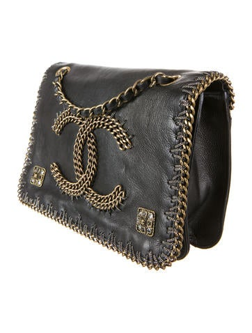 Chain Embellished Flap Bag