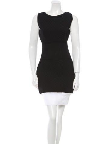 Chanel Quilted Sleeveless Dress None