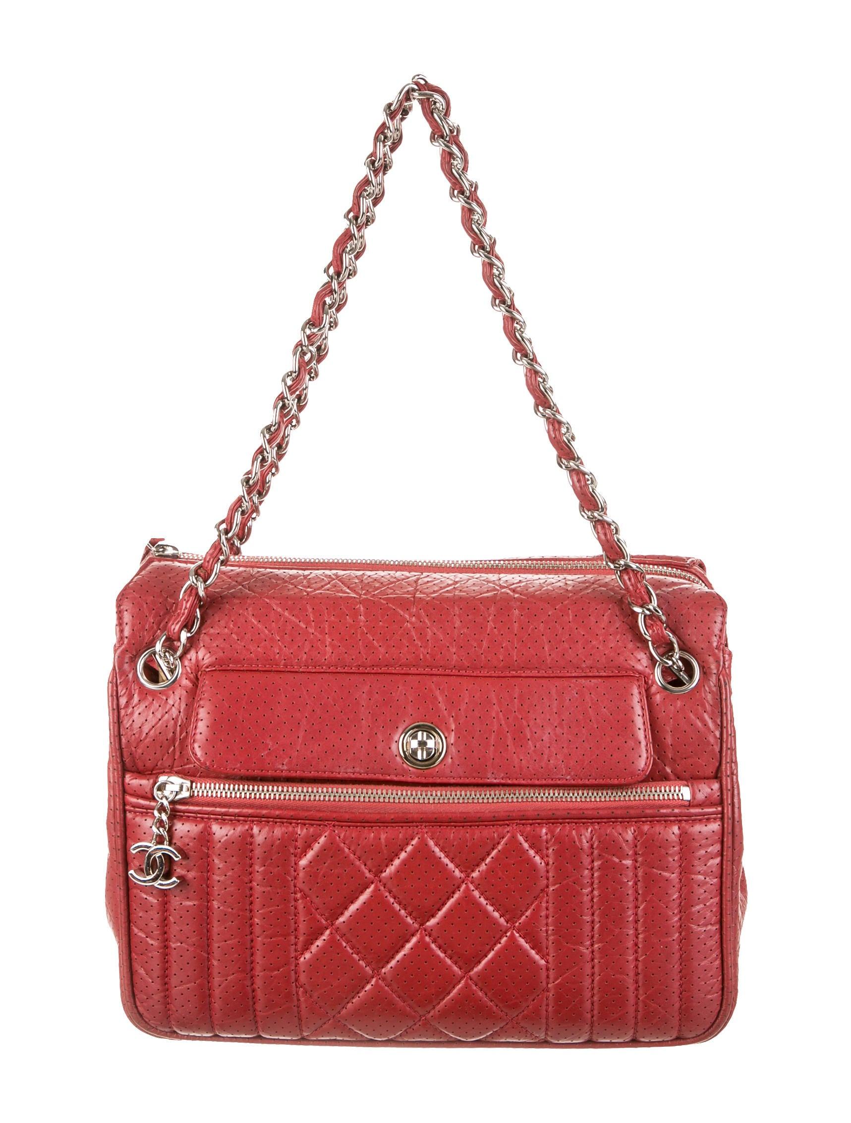0b66820042f2 Chanel Perforated 50's Tote - Handbags - CHA69014 | The RealReal