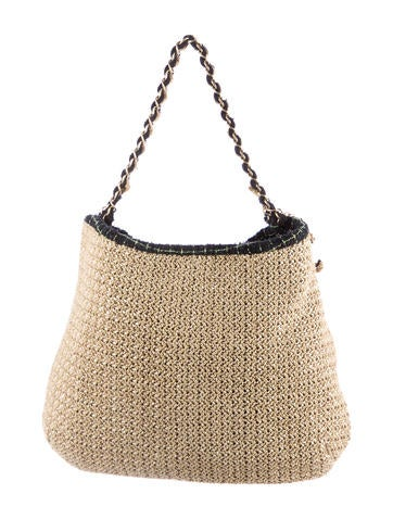 Coco Country Straw and Tweed Bag