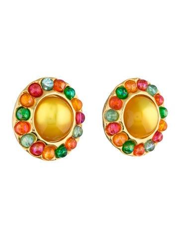 Multicolor Clip-On Earrings