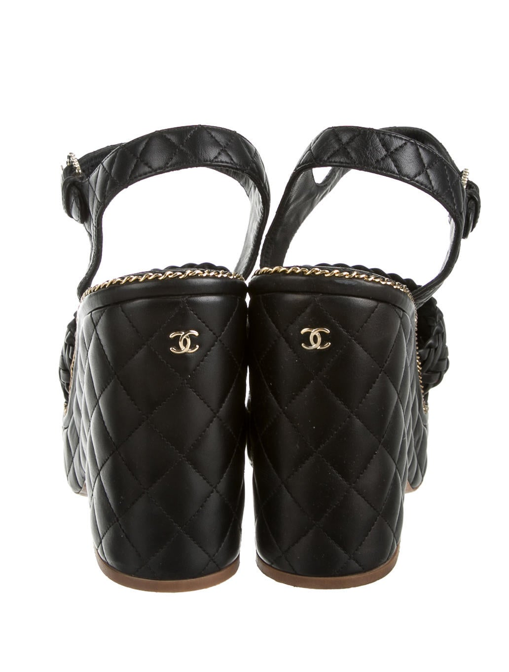 chanel wedges shoes cha77345 the realreal
